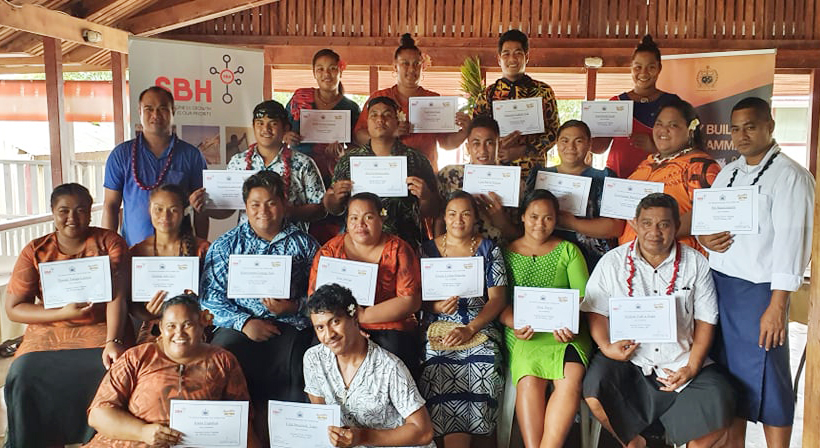 Customer Service - Participants from Itu o Tane and Asau during training at Bayview Resort.