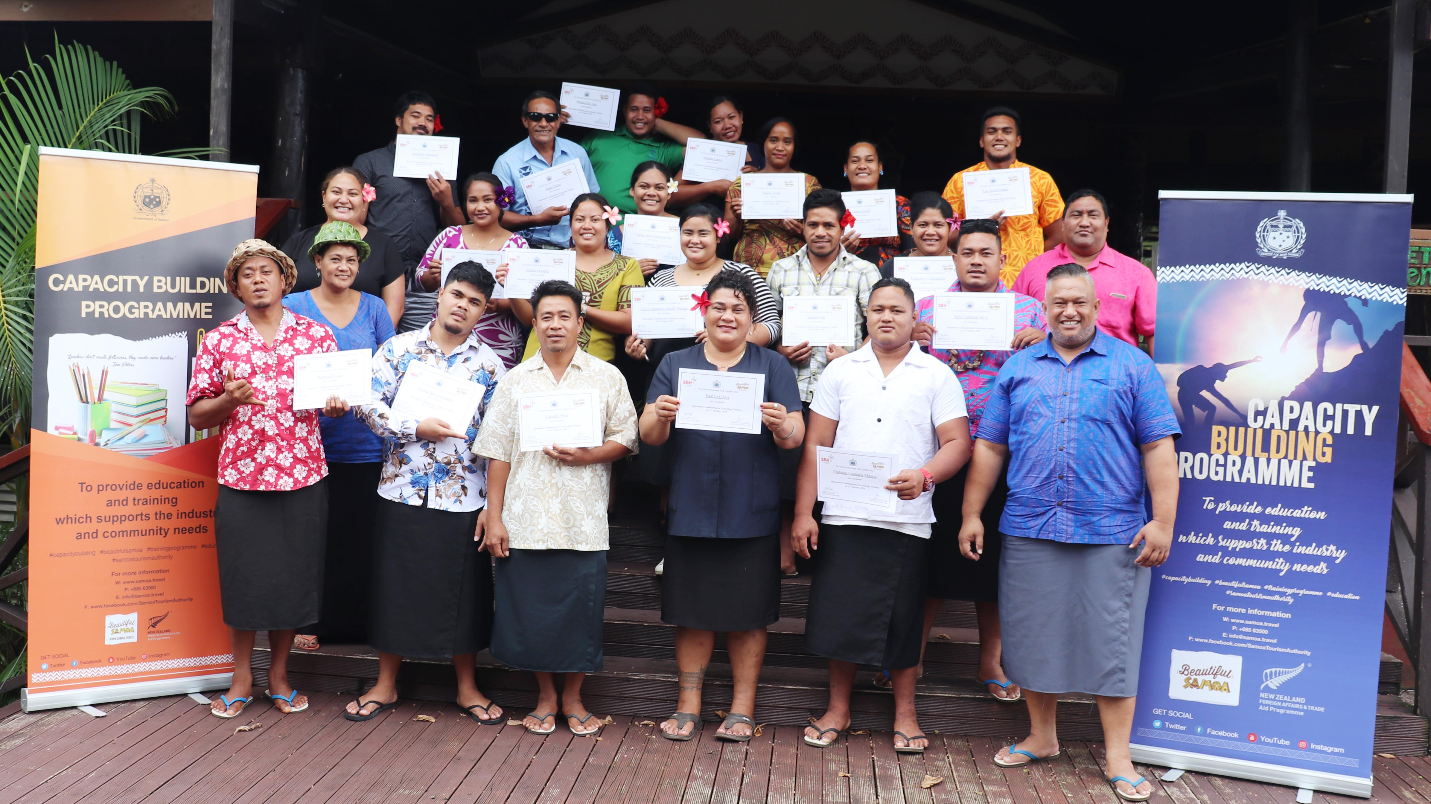 Tourism & Hospitality - Participants graduate during one of the accredited courses at Return to Paradise Resort.